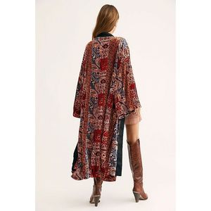 New Free People Crazy for You Velvet Duster
